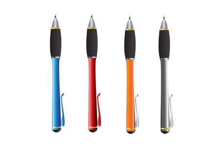 The colorful pen Stock Vector - 17239790