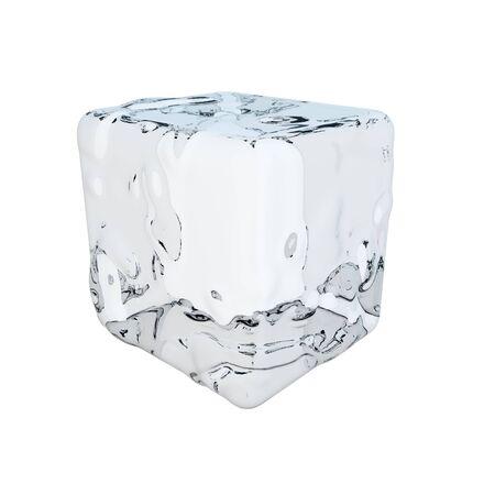 cubos de hielo: cubo de hielo Foto de archivo