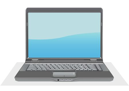 pc icon: laptop for your design Illustration