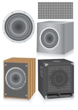 decibel: speakers Illustration