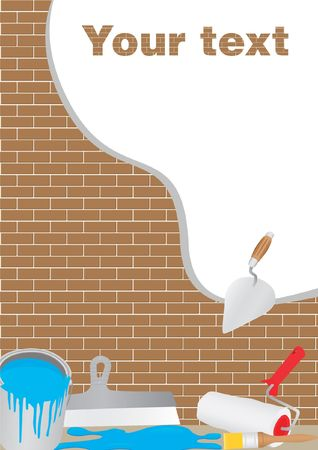 plastering: vector illustrations Illustration