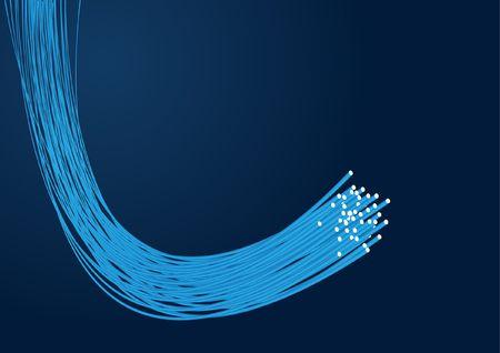 fluorescence: Optical fibre for you design Illustration