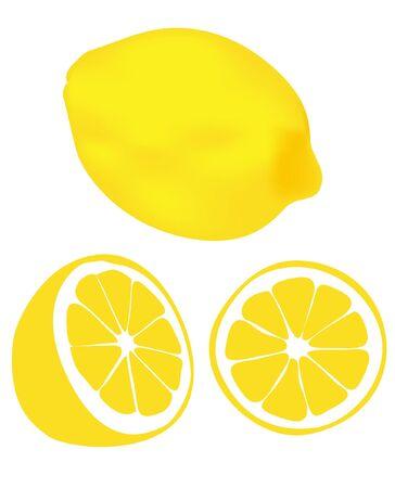 fruited: lemons on a white background