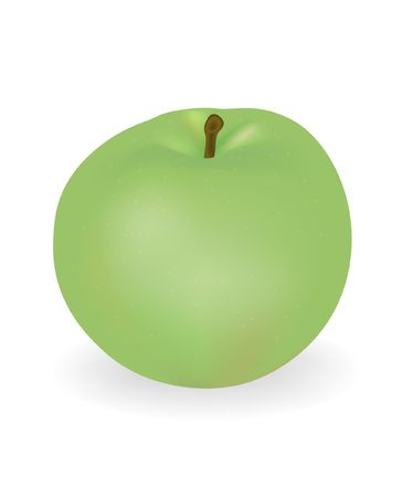 green apple isolated: green apple isolated on a white background Illustration