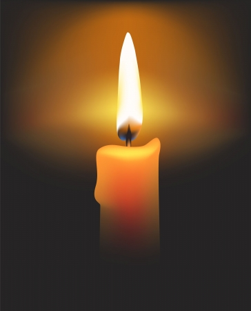 candle: Vector candle for you design