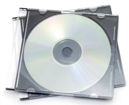 CD-ROM in a box on a white background Stock Photo - 7080807