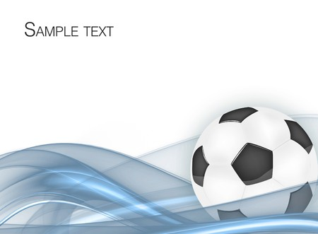 soccer background: frame with the ball for your design Stock Photo