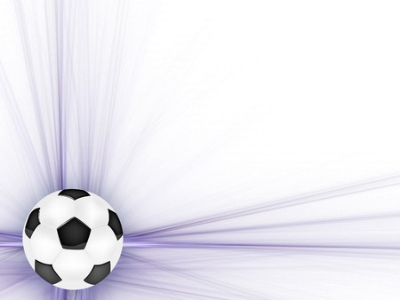 frame with the ball for your design Stock Photo