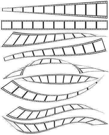 film projector: set of film Illustration