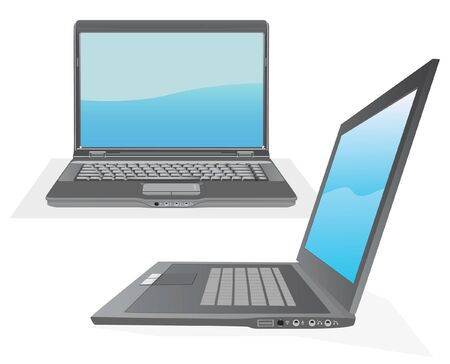 personal computers: gray laptop for your design