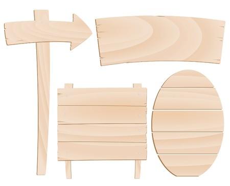 pancarte bois: Boucher et les indices de bois pour votre conception Illustration
