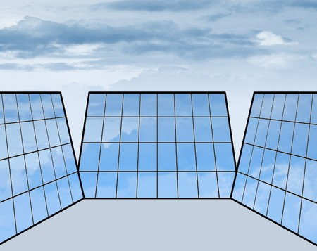 shifted: Solar panels on a white background. Energo sun. Stock Photo