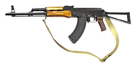 discontinued: Famous worldwide Kalashnikov AK-47, Hummingbird 7.62, on a white background. Discontinued