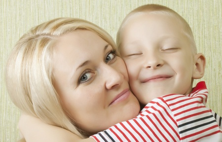 Young family. A little boy with his mother Stock Photo - 8303722