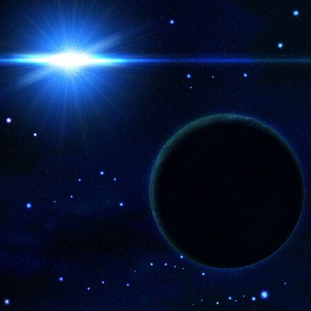 Space with the stars, sun and planets Stock Photo - 8586806