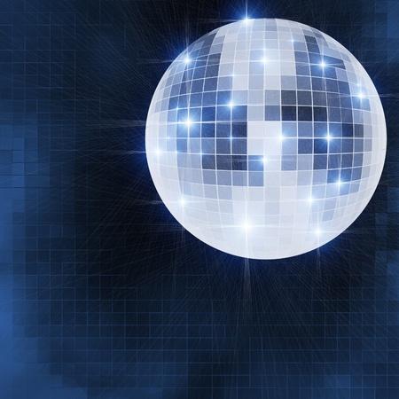 shiny disco mirror ball for your design