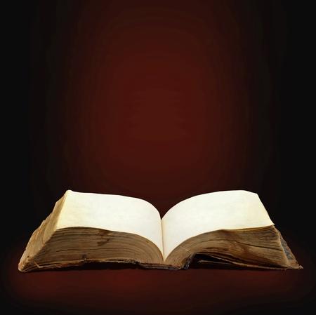 leyendo la biblia: Abri� el libro m�gico con la magia de luz para el dise�o de usted Foto de archivo