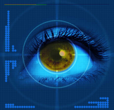 targeted: high-tech technology background with targeted eye