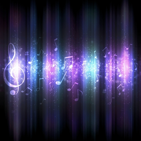 funky music: futuristic abstract glowing music background for your design