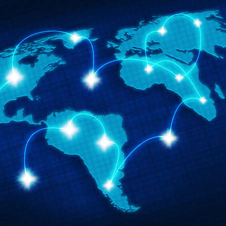 digital background with a world map for your design Stock Photo - 9121067