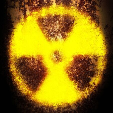 sign of radiation on a rusty texture Stock Photo - 9259151