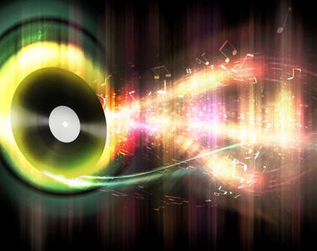futuristic abstract glowing music background for your design Stock Photo - 9306786