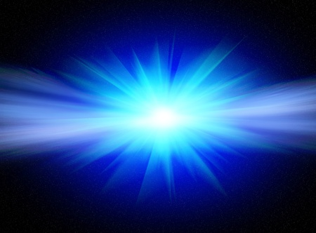 Flash bright blue star for you design Stock Photo - 9306856
