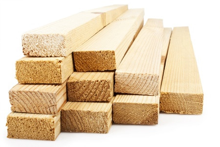 Wood planks on a white background Stock Photo