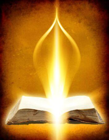 Oud boek met Ray of Light
