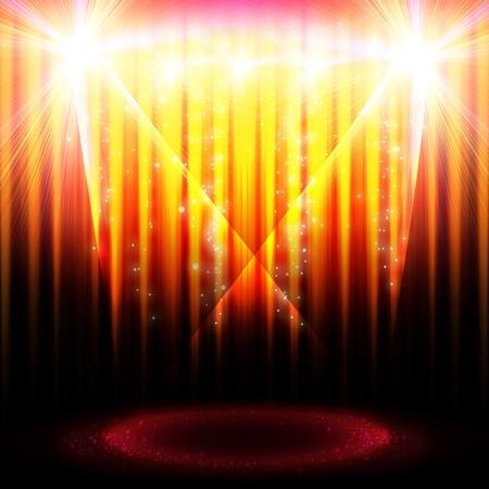Escena teatral con luces y partículas mágicas Foto de archivo - 9968648