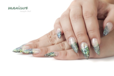 Beautiful woman hands with manicure Stock Photo - 9968693