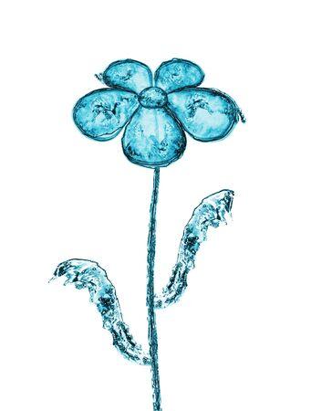 blue daisy: Beautiful daisy made of water