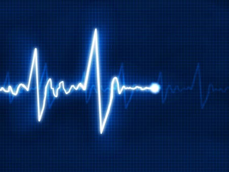 monitoring: Abstract heart beats cardiogram for you design