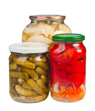 canned vegetables in glass jars Stock Photo - 10461270