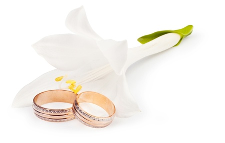 Gold wedding rings for your design photo