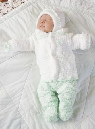 Sleeping on the tummy newborn baby Stock Photo - 11931979
