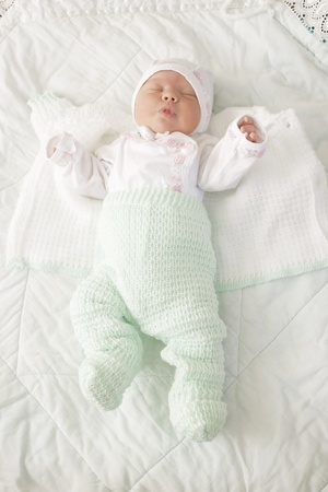 Sleeping on the tummy newborn baby Stock Photo - 11931980