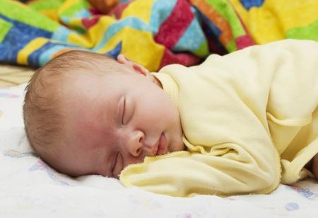 Sleeping on the tummy newborn baby Stock Photo - 11931982