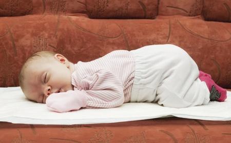 Sleeping on the tummy newborn baby Stock Photo - 11931981