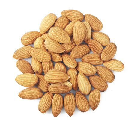 nuts almonds on a white background photo