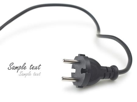 enchufe: Enchufe el�ctrico en el fondo blanco