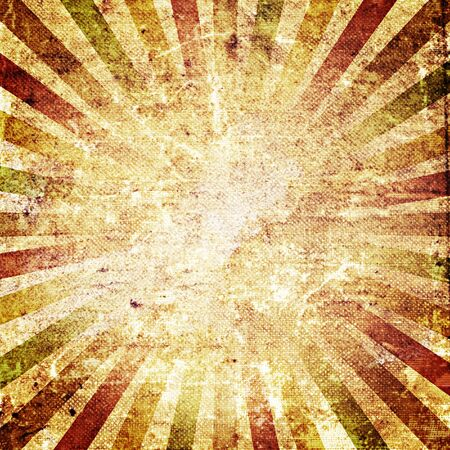 Square shaped sunburst ornated paper sheet Stock Photo