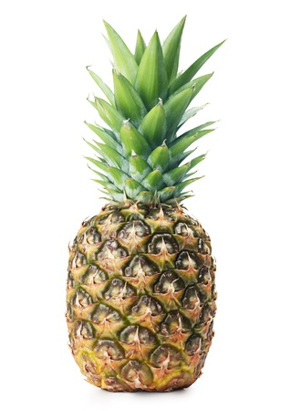 ripe pineapple on a white background photo