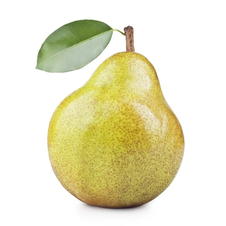 ripe pears isolated on white background  photo
