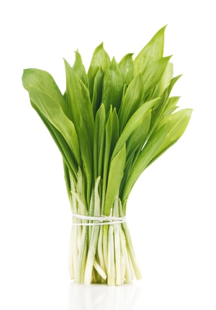 leeks: ramson bunch vegetable isolated on white background
