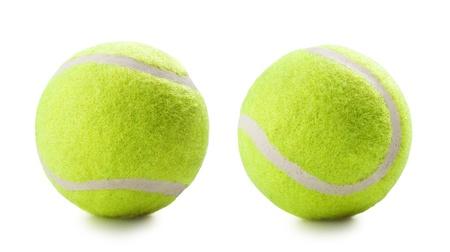 在白色背景網球