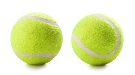 Tennis ball on the white background photo
