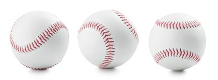 three baseball ball on a white background 免版税图像