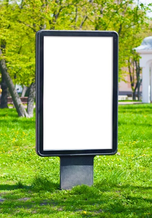 adverts: Blank billboard advertising on the street, to accommodate your text or pictures