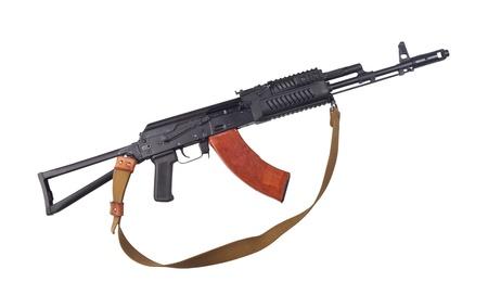 卡拉什尼科夫槍被隔絕在白色背景。